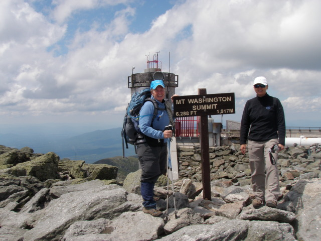 Dirigo & Python at the summit of Mt. Washington