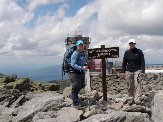 Dirigo & Python at the summit of Mt. Washington