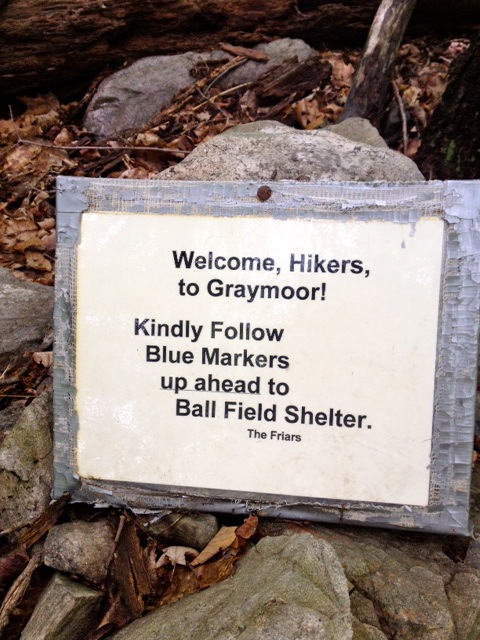 Welcome Hikers To Graymoor