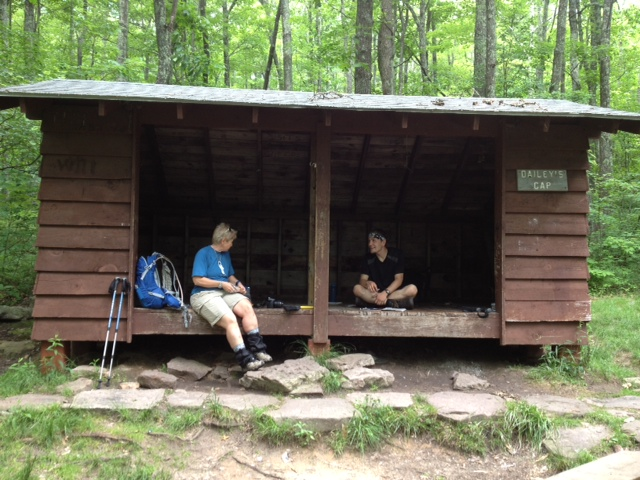 Dirigo and Nature Guard at Bailey Gap Shelter