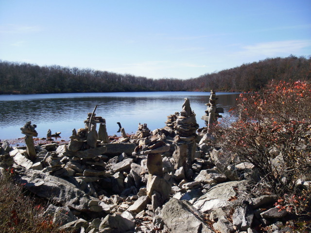 Rock sculptures at Sunfish Pond