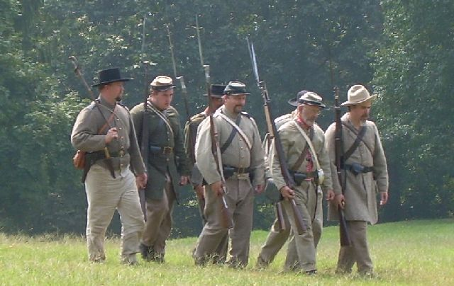 Civil War Reenactment Practice