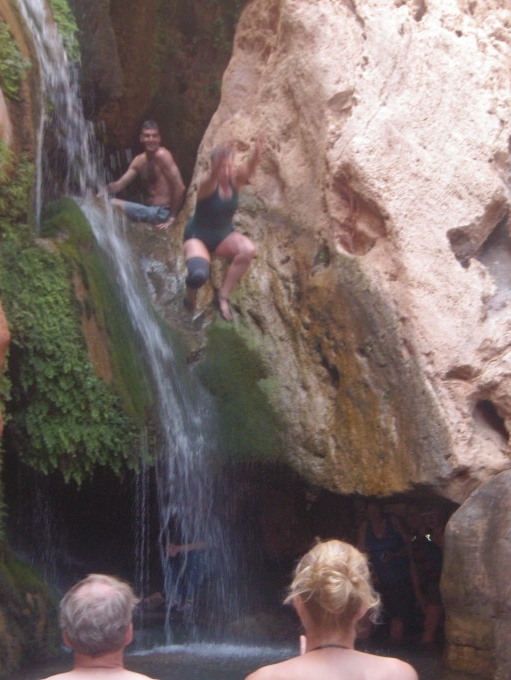 Addison jumping at Elves Chasm
