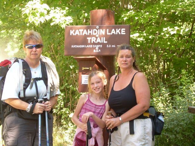 Katahdin Lake Trail sign