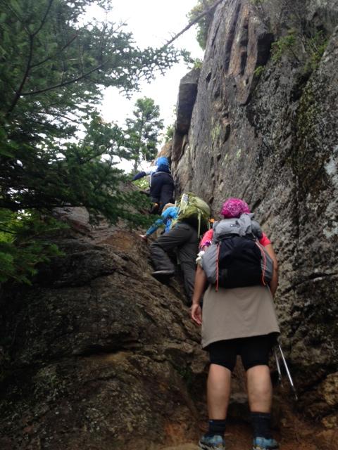 First hard climb up to Wildcat E