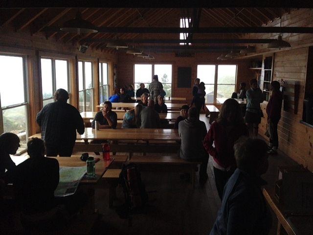 Inside Madison Spring Hut