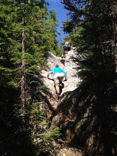 Lock Down climbing to Mt. Moriah summit