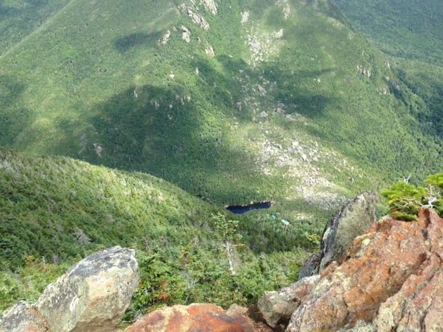 Looking down at Carter Notch Hut