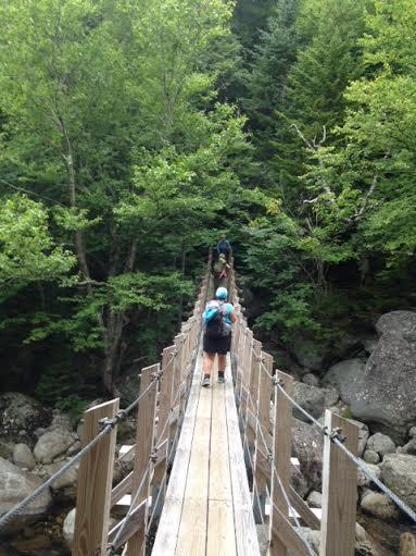 Suspension bridge over Peabody River