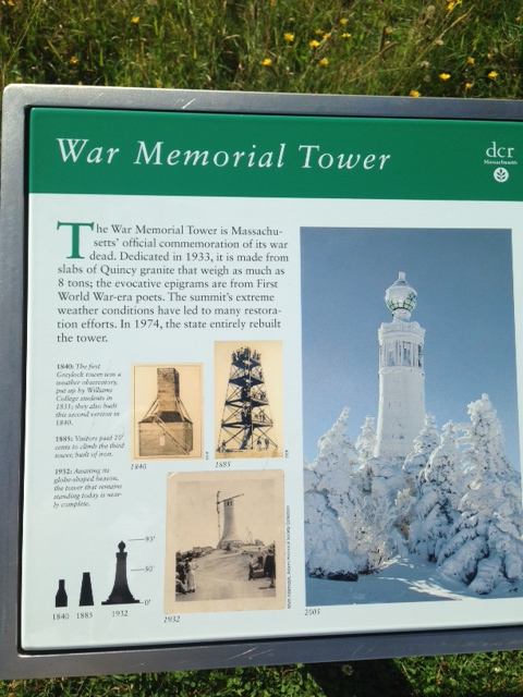 War Memorial Tower Sign