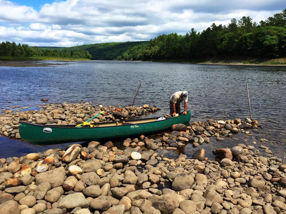 Canoe in Kennebec River